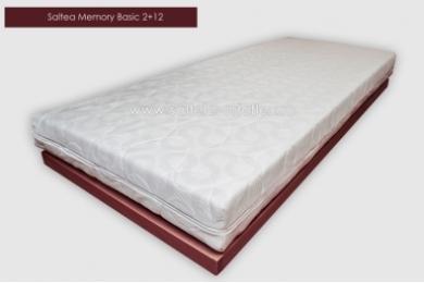 Saltea Memory Basic 2+12 cm 90x190 cm